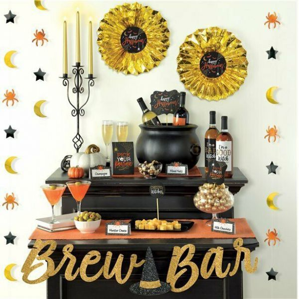 Halloween Brew Bar Decoration Kit 23 pieces